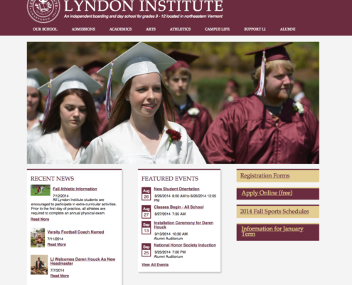 New Lyndon Institute Website